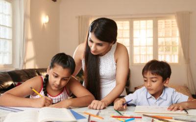 Como ajudar as crianças a estudarem em casa