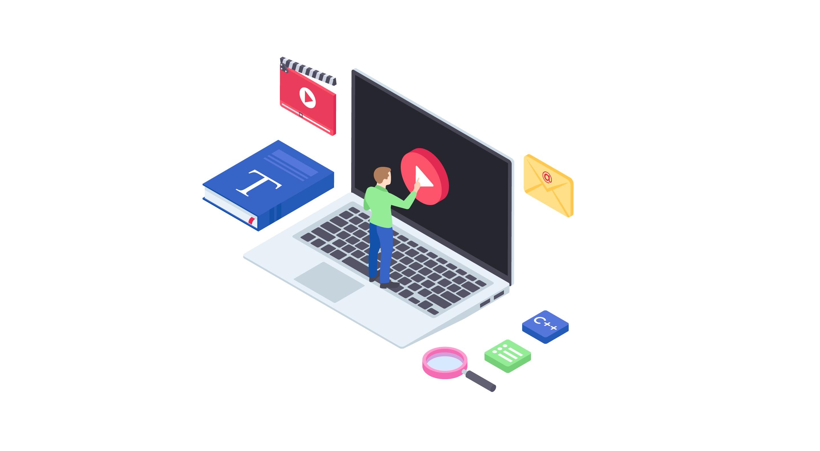 imagem de ferramentas para criar aulas online